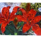 Red Lillies - SOLD