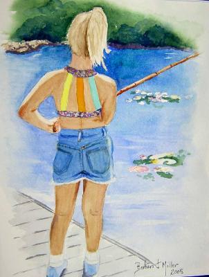 """Bree Fishing"" - SOLD"