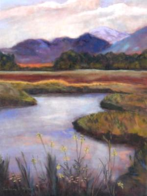 Montana Pond in Evening Light - SOLD